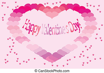 valentine, vetorial, illustration., card.