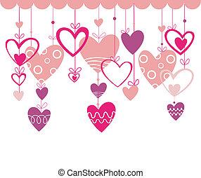 valentines, fundo, ouvir, dia