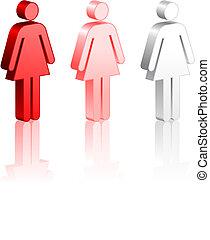 vara, femininas, figuras