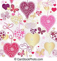 variegado, padrão, seamless, valentine