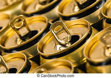 vazio, latas, bebida