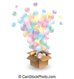 vecto, jogo, balloons., multicolored
