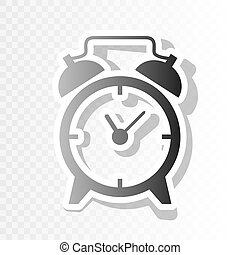 vector., ano, transition., novo, sinal., blackish, relógio, fundo, alarme, ícone, transparente