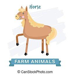 vector., cavalo, isolado