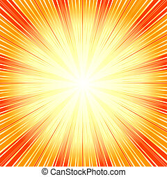 (vector), fundo, abstratos, sunburst, laranja