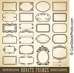 (vector), jogo, bordas, ornate