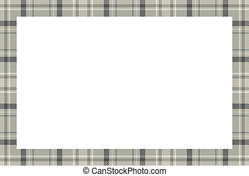 vector., padrão, quadro, vindima, borda, tartan, xadrez, retro, style., ornament., escocês