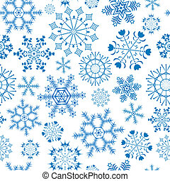(vector), white-blue, padrão, natal, seamless