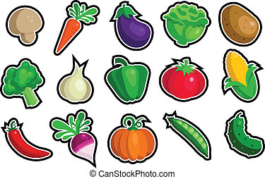 vegetal, ícones