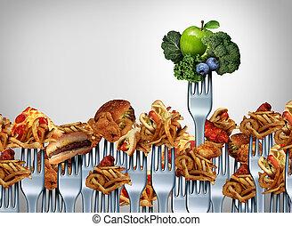 vegetal, fruta, escolha