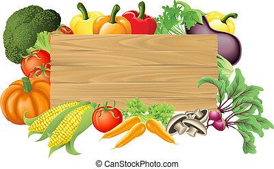 vegetal, madeira, ilustração, sinal
