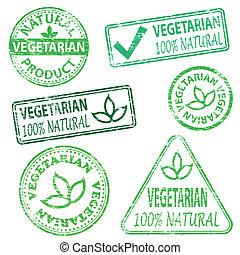 vegetariano, selos