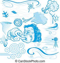 vento, cobrança