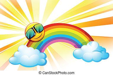 verão, arco íris