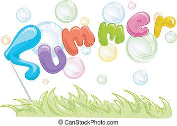 verão, bolhas