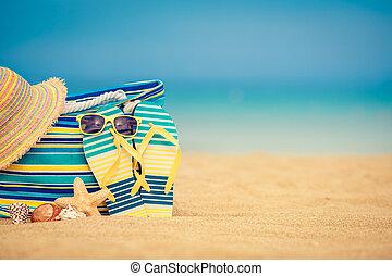 verão, conceito, férias