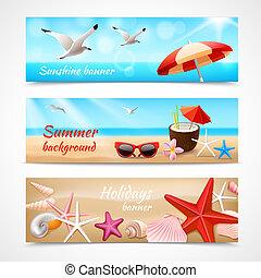 verão, etiquetas, feriados