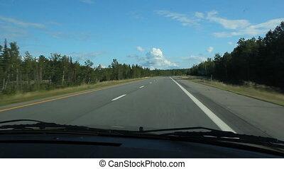 verão, highway.