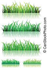 verão, jogo, primavera, grama verde, ou