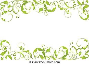 verde, borda