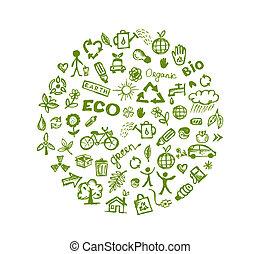 verde, ecologia, desenho, seu, fundo
