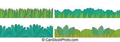 verde, fronteiras, jogo, capim