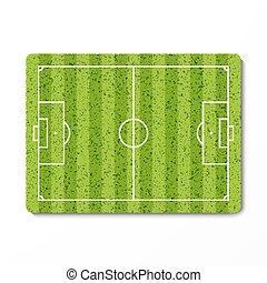 verde, futebol, campo grama
