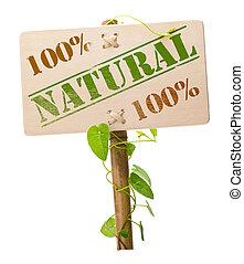 verde, natural, bio, sinal
