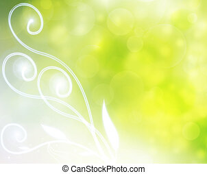 verde, natural, fundo, bolha
