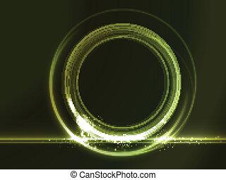 verde, placeholder, efeitos, redondo, luz