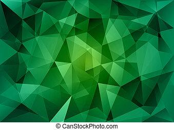 verde, triângulos