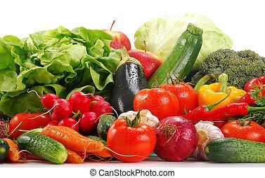 verduras cruas, variedade
