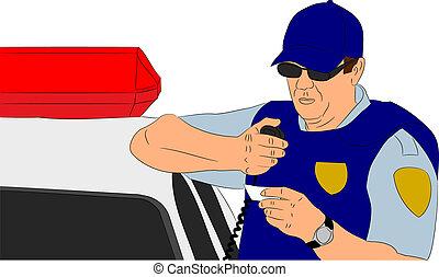 verificar, identificação, policial