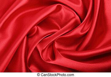 vermelho, liso, fundo, têxtil