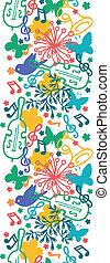 vertical, primavera, seamless, sinfonia, música, padrão experiência