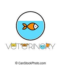 veterinário, desenho, modelo