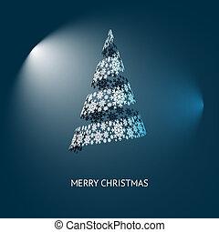 vetorial, árvore, natal