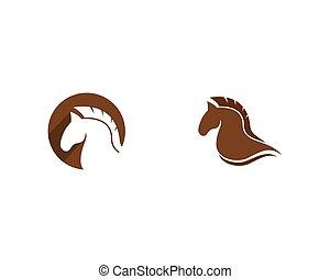 vetorial, ícone, cavalo