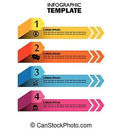 vetorial, ícones, marketing, setas, infographic, desenho, modelo