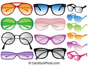 vetorial, óculos de sol