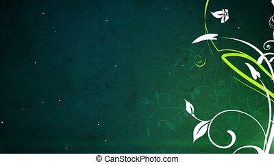 vetorial, 3, flores, volta