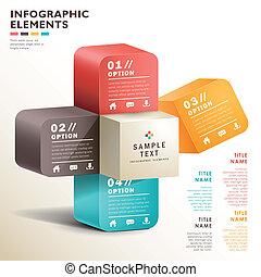 vetorial, abstratos, papel, 3d, infographics