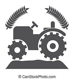 vetorial, agricultura, ícone