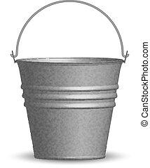 vetorial, balde, ilustração