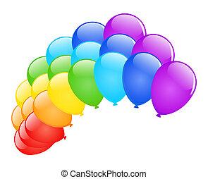 vetorial, balloons.