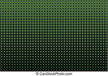 vetorial, cômico, halftone, fundo, color., ilustração, verde, pattern., pontilhado
