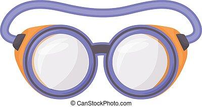 vetorial, caricatura, ilustração, óculos, protetor