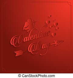 vetorial, cartão vermelho, valentine