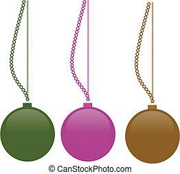 vetorial, christmass, bolas