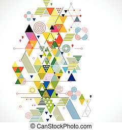 vetorial, coloridos, abstratos, ilustração, criativo, fundo, geomã©´ricas